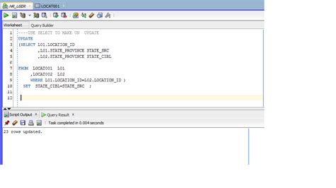 Alter Table Oracle Oracle Sql Plsql Form Report Apex Update With Select