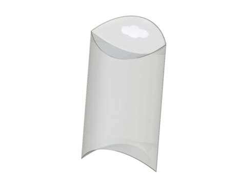 plastic pillow boxes clear plastic pillow box with hang tag 50x70 mm