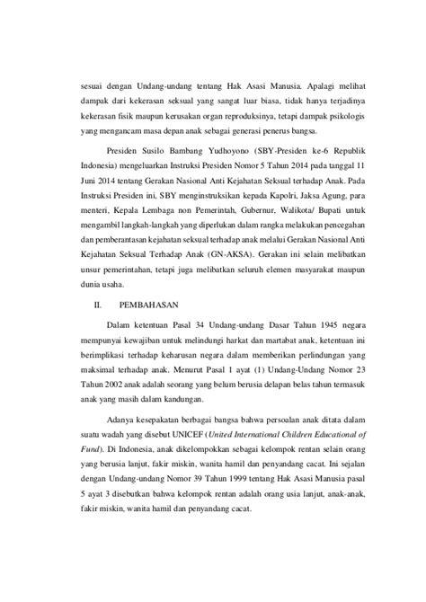 perlindungan dan penegakan hukum terhadap kasus kekerasan seksual pad
