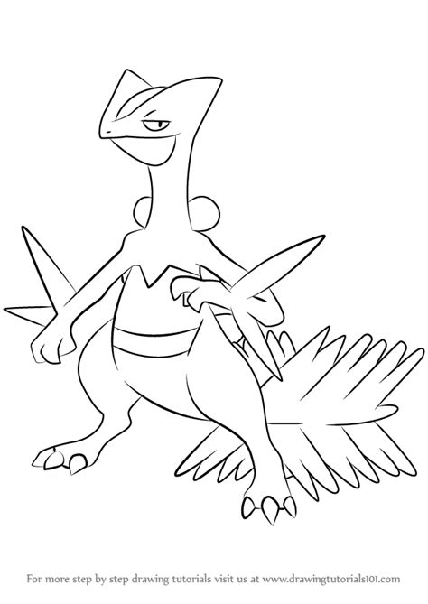 pokemon coloring pages grovyle learn how to draw sceptile from pokemon pokemon step by