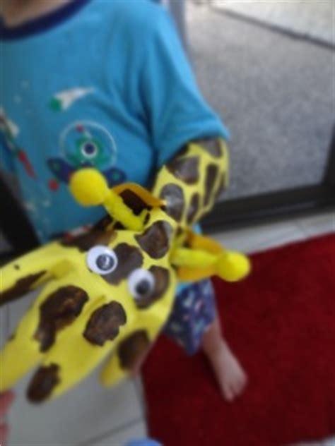 giraffe rubber st rubber glove giraffe puppet family crafts
