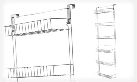 over the door storage rack with baskets over door storage basket rack groupon goods