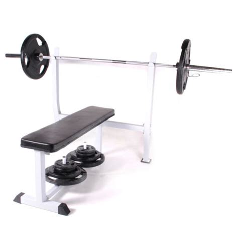 flat bench barbell chest press commercial duty olympic flat barbell weight lifting chest