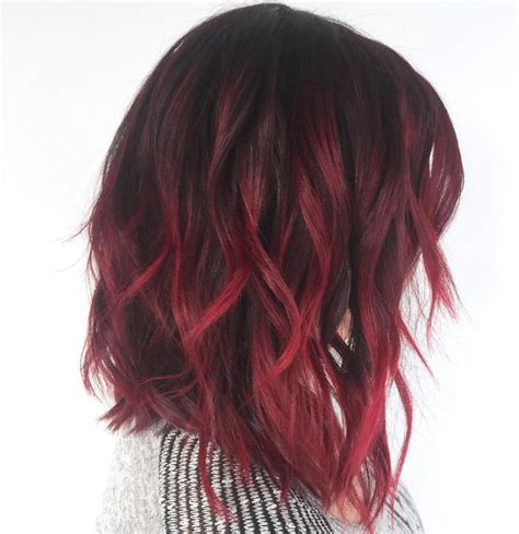burgundy ombre medium length hair 42 charming ombre hairstyles for women ombre hair color
