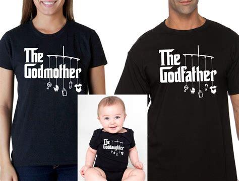 Kaos Tshirt Tshirt The Godson godmother or godfather shirt goddaughter bodysuit romper