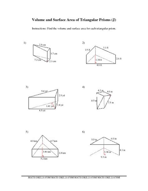 printable math worksheets surface area math worksheets surface area of a cylinder volume of