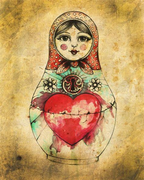 watercolor tattoo russia russian doll by bjesomarka on deviantart matrioskas en