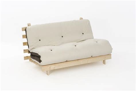 Sofa Beds With Thick Mattress 4ft6 Premium Luxury Futon Wooden Sofa Bed Thick Mattress 11 Colours Ebay