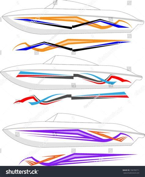 vinyl striping for boats boat graphics stripe vinyl ready stock vector