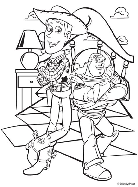 coloring pages toy story disney toy story woody and buzz coloring page crayola com