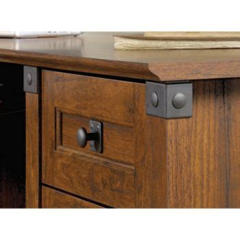 "66""W Carson Forge Corner Computer Desk by Sauder"