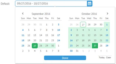 new year date range bootstrap datepicker