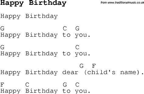 Happy Birthday Song Chords | secondary music class 2014 05 04