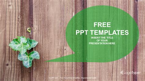 Green Plant Nature Powerpoint Templates Plant Powerpoint Templates Free