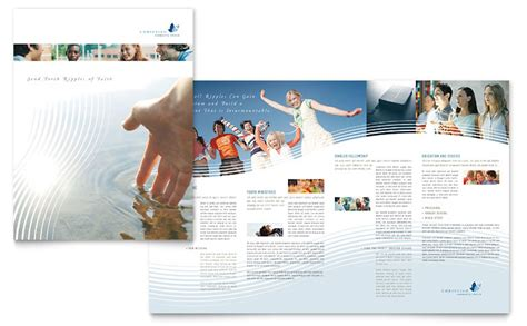 church brochures templates christian ministry brochure template word publisher