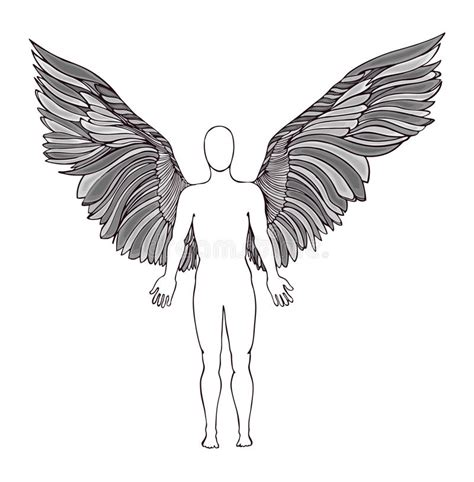 Figure Wings figure of an wings stock illustration illustration of concept 61176545