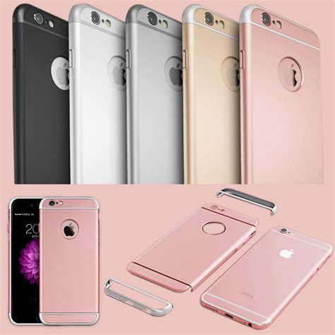 Casing Cover Iphone 5 Ume 3 In 1 Chrome I Ring Stand luxury 3 in 1 plastic for iphone 6 6s 4 7 6 6s plus 5 5 gold