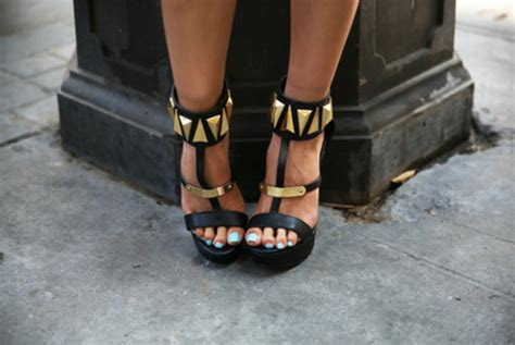 shoes high heels black gold style haute rebellious
