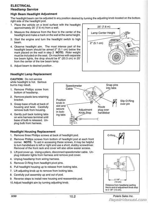 1996-2000 Polaris Sportsman 335 500 ATV Service Manual