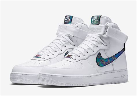 nike air force  high lv iridescent sneaker bar detroit