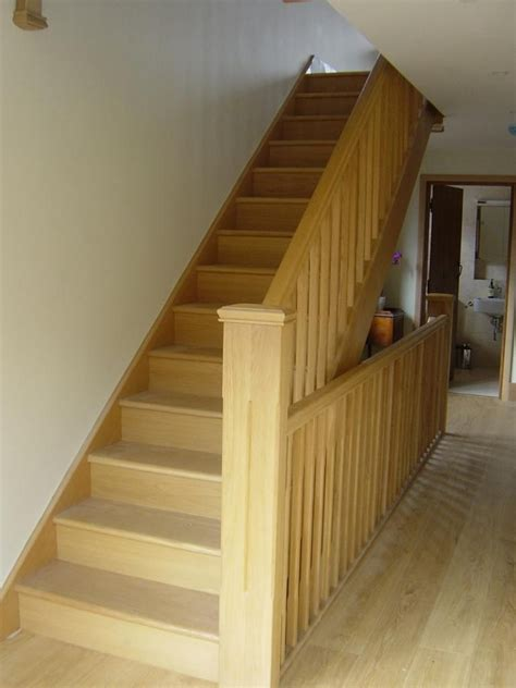 white oak banister stair parts in oak loft stairs