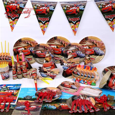 lot decorations 84pcs lot cars theme supplies birthday