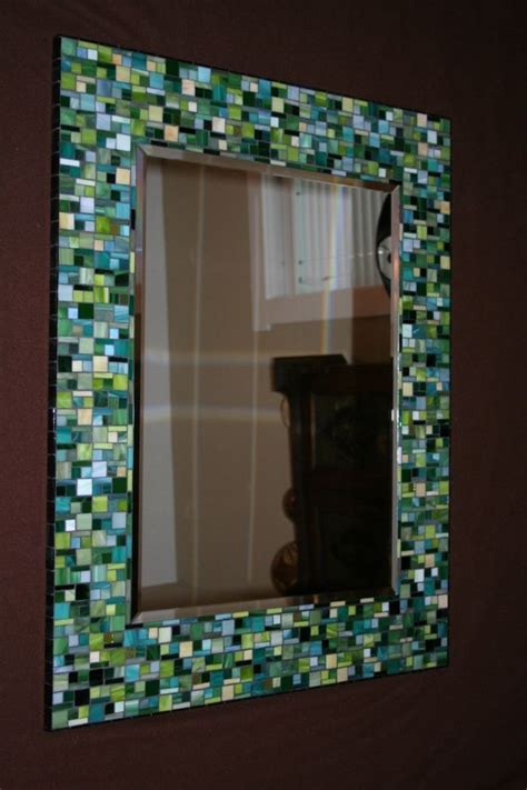 how to frame a bathroom mirror with mosaic tiles pin by shan del on diy fun stuff ideas pinterest