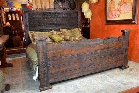 hacienda style bedroom furniture rustic headboard door hacienda bed demejico