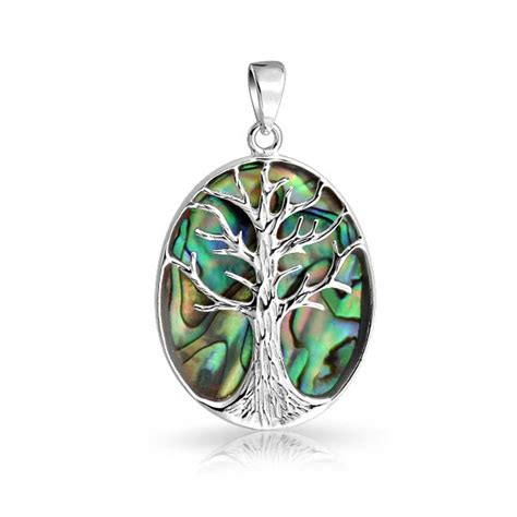 large celtic tree of abalone shell sterling silver