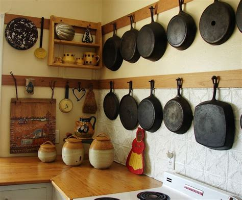 Hanging Pans On Kitchen Wall Totally Hanging My Cast Iron My Stove At The New