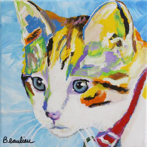 Cat Acrylic 12 best cats images on cat paintings cats and