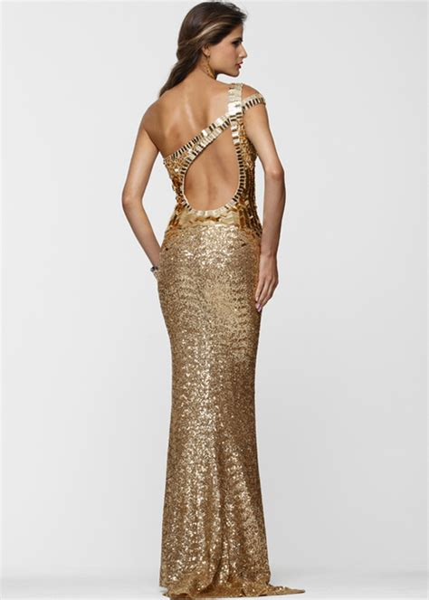 gold beaded prom dress gold sequin prom dress pjbb gown