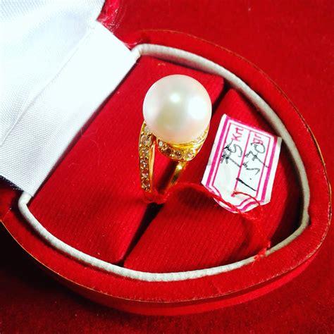 Mutiara Asli Lombok Flower Ring handmade gold ring with south sea pearl cez 40 harga mutiara lombok perhiasan toko emas