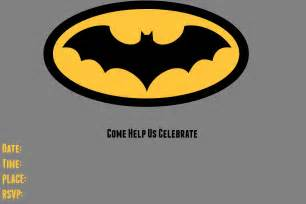 Batman Invitation Template by 9 Awesome Batman Birthday Invitations Baby