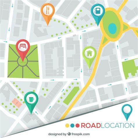 maps vector road location map vector free