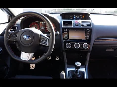 subaru impreza wrx sti interior 2016 subaru wrx interior review and tour