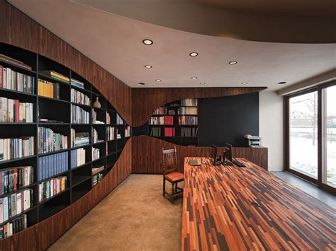 Modern Home Library Interior Design by Rounded Fixtures Library Room Interior House Design4
