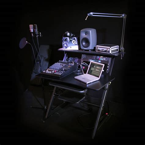 Professional Studio Workstation Recording Desk In Black Recording Studio Workstation Desk