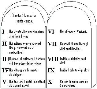 tavole comandamenti i dieci comandamenti neoborbonismo 12 01 2012