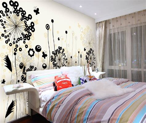 Wall Design In Bedroom Floral Wall Decor Decobizz