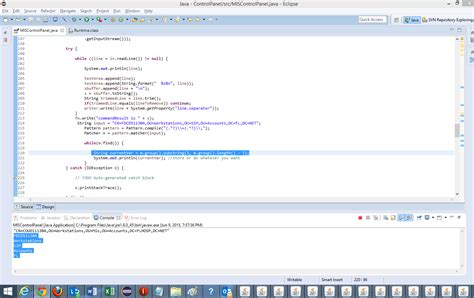 pattern output java using trim in java to remove parts of an ouput