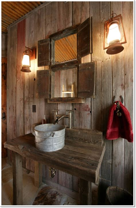 42 ideas for the rustic bathroom design