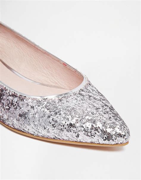 glitter flat shoes pink faith gipsy pink ombre glitter flat shoes at asos