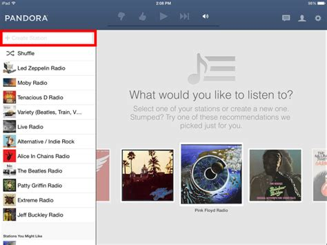 stumblers who like pandora internet radio listen to free music how to use pandora radio on your ipad