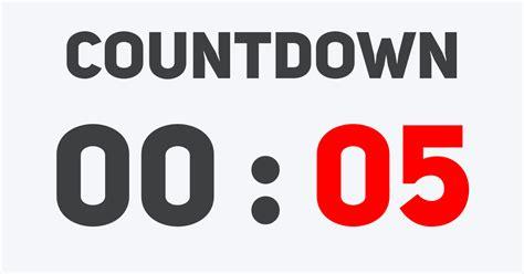 aftellende klok countdown timer