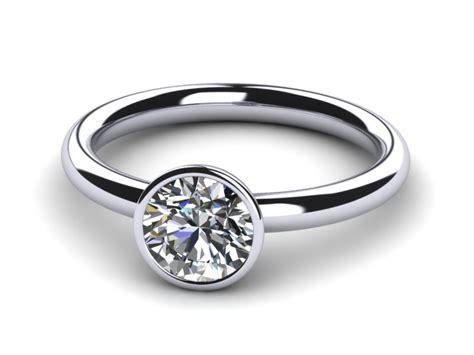 bezel style engagement ring