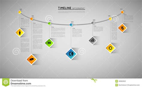 graphic timeline template timeline template stock vector image 46062922