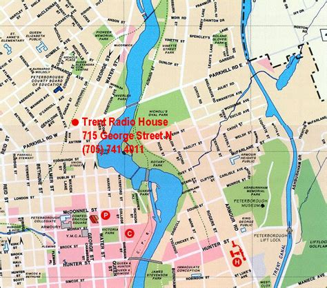 peterborough canada map trent radio 92 7 cfff fm