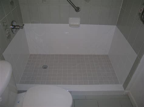 diy convert bathtub to walk in shower diy tub to shower conversion diy projects