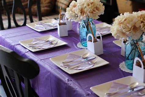 bridal shower table photo bridal shower food table image